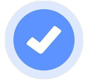 Facebook verified blue checkmark