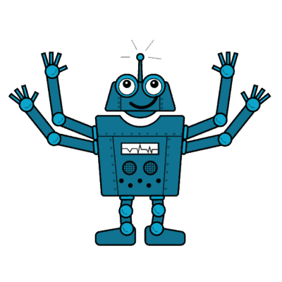 Drawing of Otto, the WordPress Updates Robot