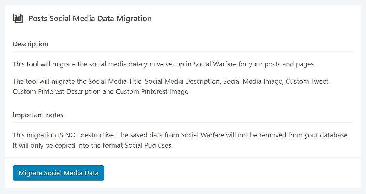 Social Pug Migrate Social Media Data