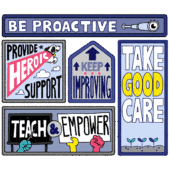 Illustration of the five core values at NerdPress